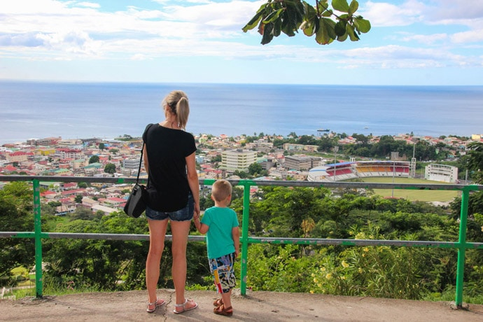 morne bruce viewpoint Dominica