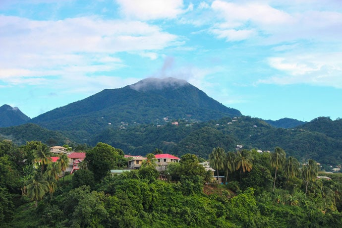 Dominica viewpoint from cruise ship