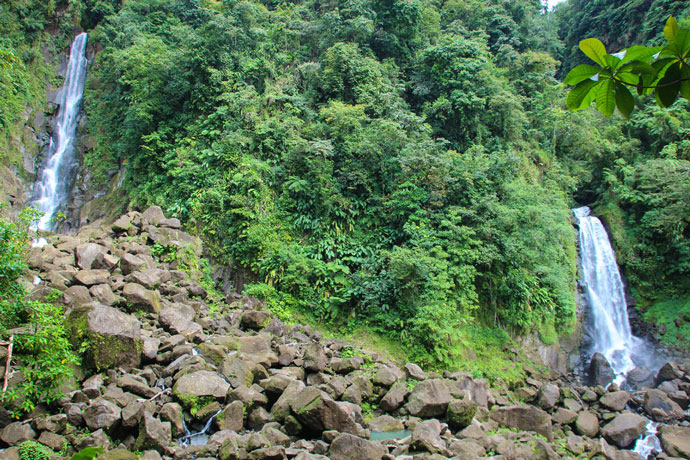 Trafalgar Falls waterfall Dominica