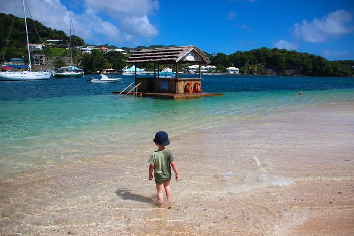 St Vincent and the Grenadines beach island
