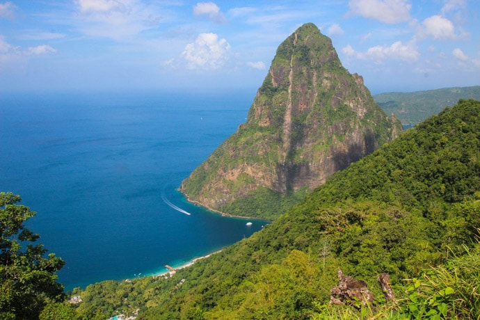 Pitons viewpoint beach