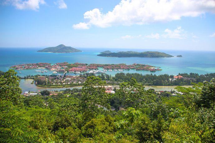 Praslin viewpoint in Seychelles