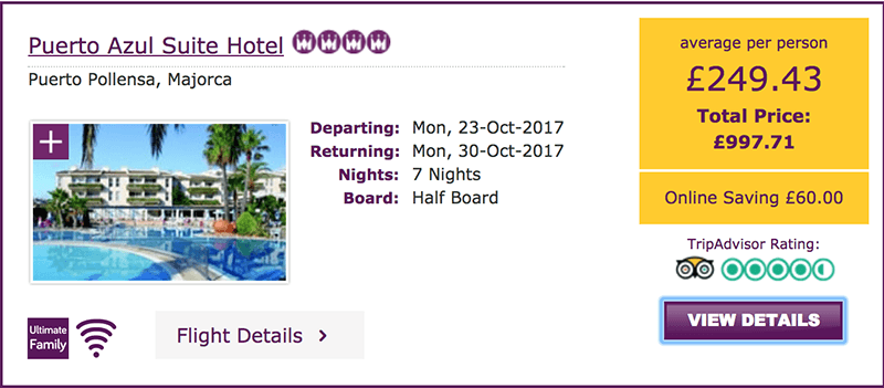 majorca october half term deal