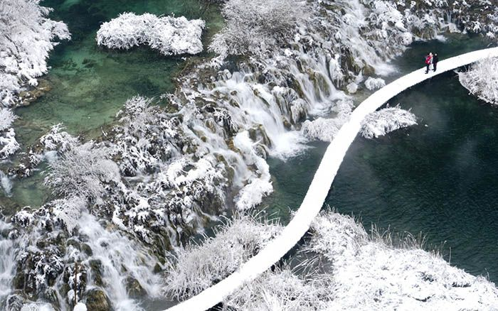 Plitvice National Park winter viewpoint Croatia