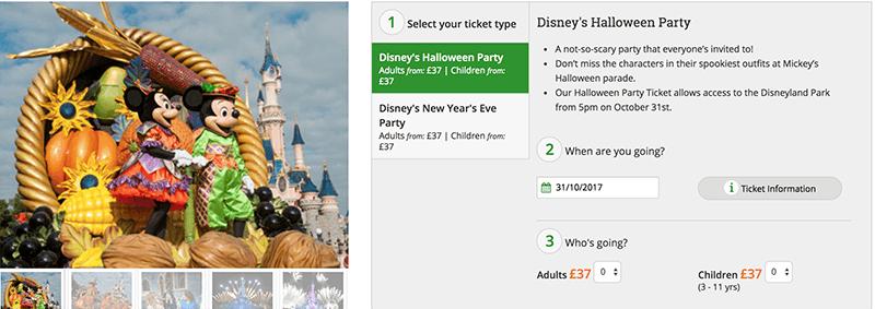 Disneyland Paris discount tickets deal school holidays