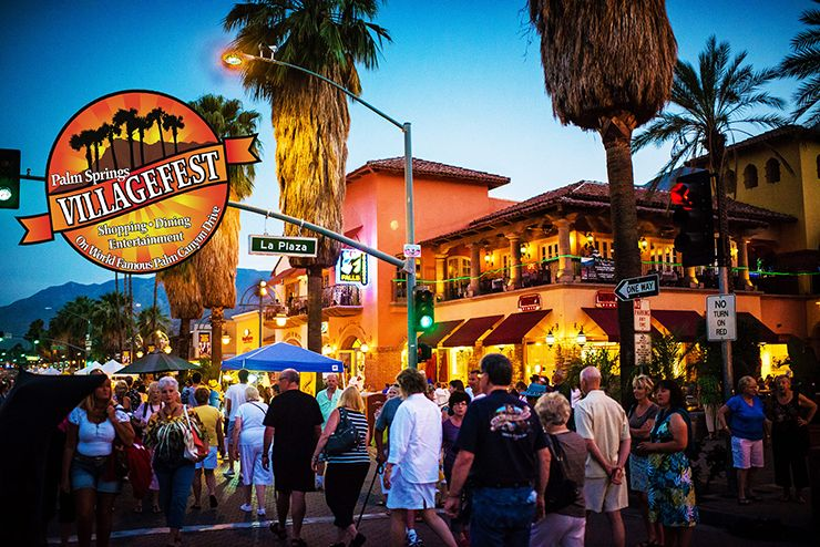 things to do in palm springs with kids - Villagefest palm springs