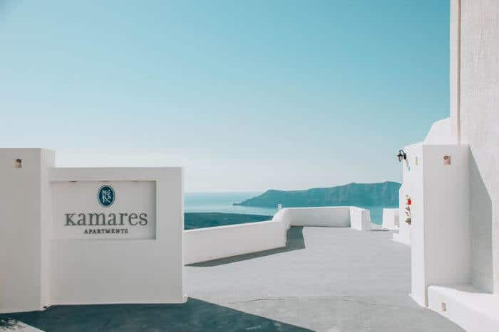 Karames Apartments Santorini with a toddler