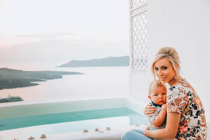 Santorini with a hot tub views