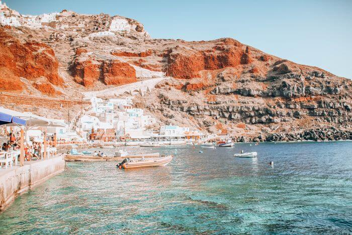 Amoudi Bay with a toddler Santorini
