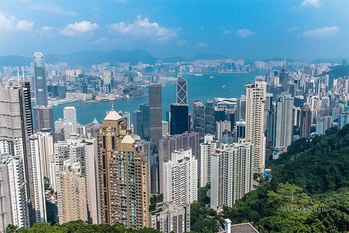 budget family accommodation hong kong - Victoria Peak Skyline city views
