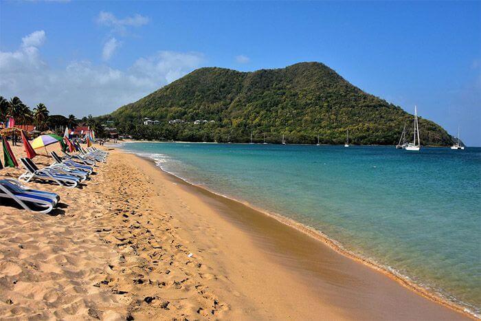 st lucia beaches near cruise port