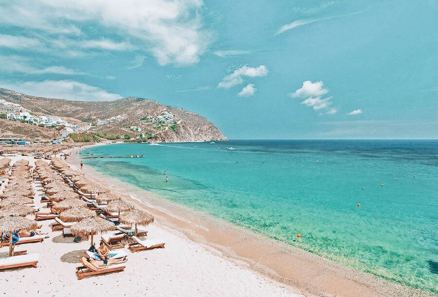 Top 5 beaches in Mykonos - Elia Beach