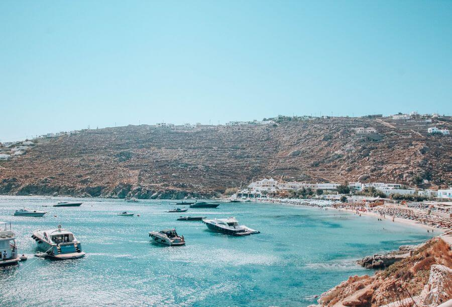 Top 5 beaches in Mykonos - Psarou Beach