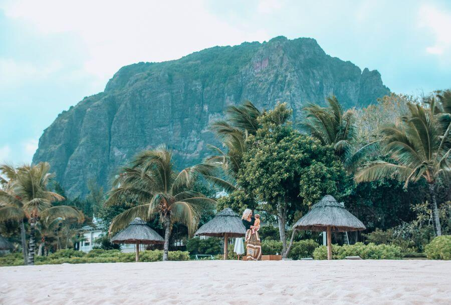 instagrammable places in Mauritius - Le Morne beach