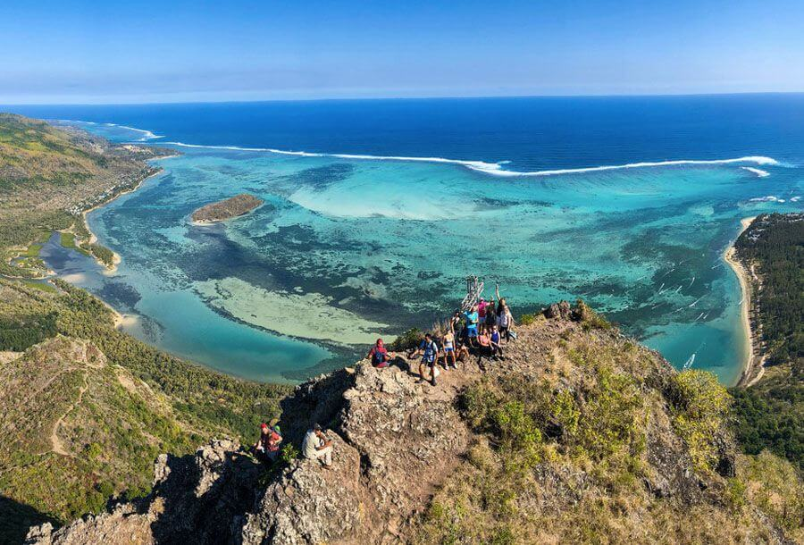 instagrammable places in Mauritius - Le Morne mountain trail