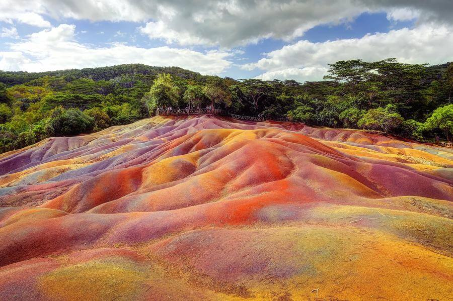 most instagrammable places in Mauritius - seven coloured earth Chamarel