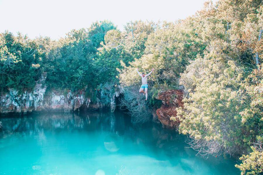 non touristy things to do in bermuda - tom moore's jungle blue hole park