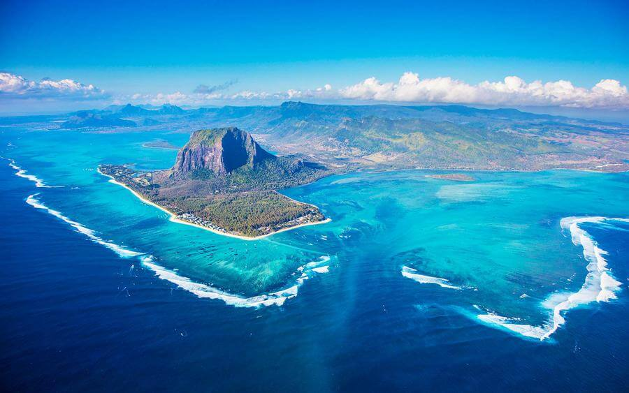 mauritius south island tour itinerary - underwater waterfall