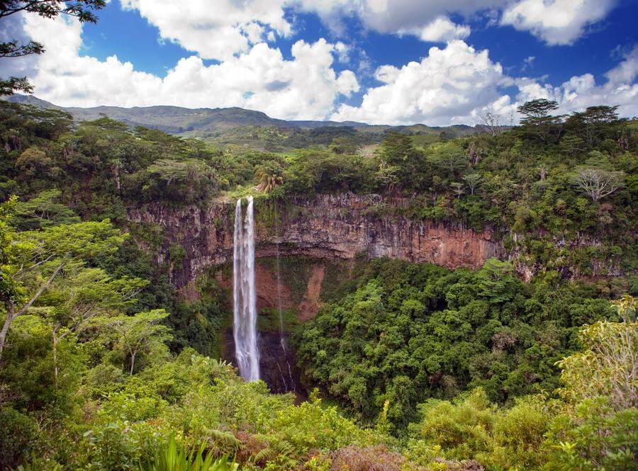 most instagrammable places in Mauritius - Charmarel Waterfall