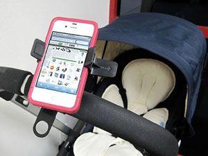 best-stroller-hacks-iphone-holder