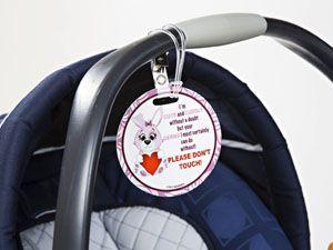 best-stroller-hacks-luggage-tags
