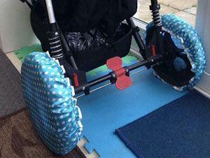 best-stroller-hacks-shower-caps-dirt