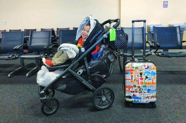 taking your stroller through the airport made easy